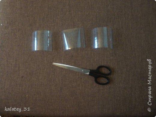 Всем здравствуйте! Хочу поделится способом хранения мулине.  Для работы нам понадобится: пластиковая бутылка, ножницы, фломастер ( но можно и без него) и все! Из 1,5 л бутылки получаются три шпульки, из 1 л -2 шт. фото 3