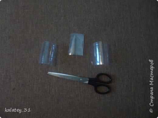 Всем здравствуйте! Хочу поделится способом хранения мулине.  Для работы нам понадобится: пластиковая бутылка, ножницы, фломастер ( но можно и без него) и все! Из 1,5 л бутылки получаются три шпульки, из 1 л -2 шт. фото 4