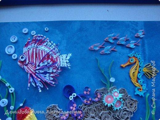 Ура , еще одна работа готова. Лето отпуск море, точнее подводный мир;) При работе пересмотрела энциклопедии, старалась применять цвета соответственно с окраской необходимого обитателя.  фото 3