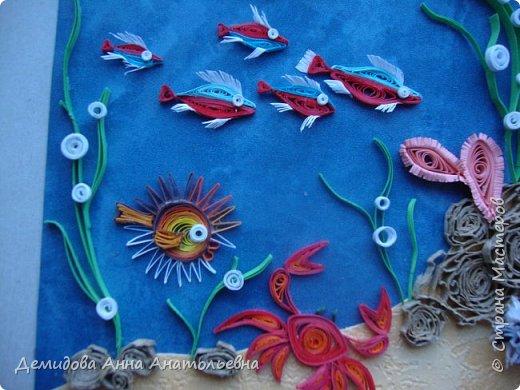 Ура , еще одна работа готова. Лето отпуск море, точнее подводный мир;) При работе пересмотрела энциклопедии, старалась применять цвета соответственно с окраской необходимого обитателя.  фото 5