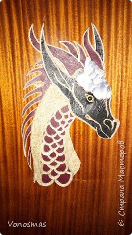 Голова дракона из кожи, джутового шпагата и алюминия фото 1