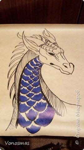 Голова дракона из кожи, джутового шпагата и алюминия фото 2