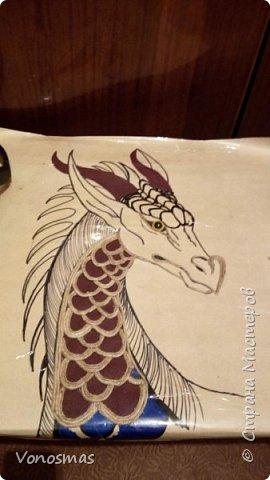 Голова дракона из кожи, джутового шпагата и алюминия фото 4