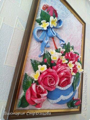 """Панно """"Зонт и розы"""" фото 3"""