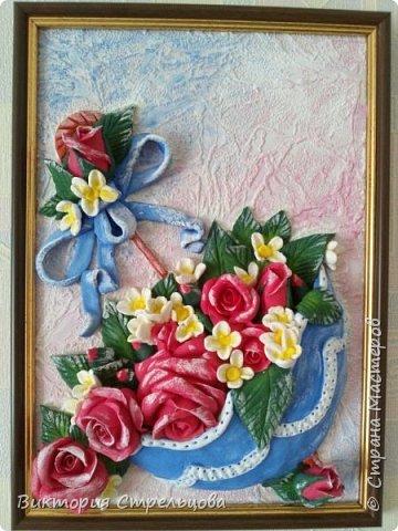 """Панно """"Зонт и розы"""" фото 1"""