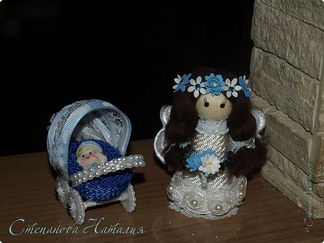 Решила теперь делать пару. В этот раз колясочка синего цвета+ феечка. фото 2