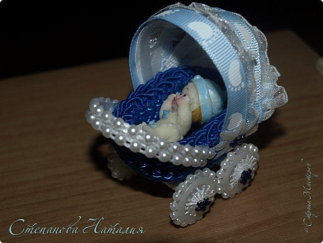 Решила теперь делать пару. В этот раз колясочка синего цвета+ феечка. фото 5