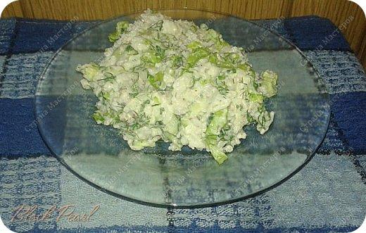 Постный салат с рисом