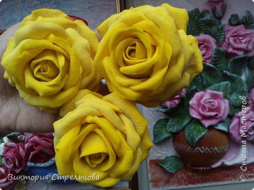 Роза из солёного теста