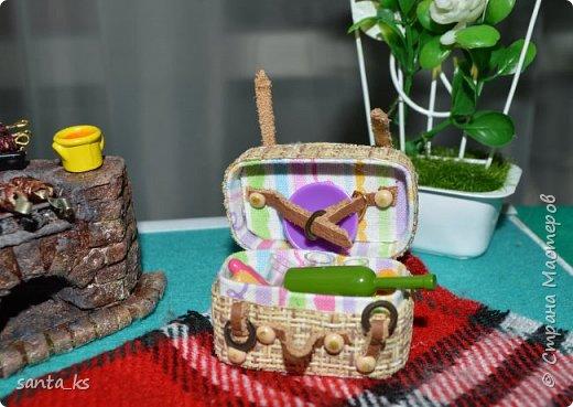 Здравствуйте мастера и мастерицы! Представляю вам свою новую работу- Гриль и корзинку для пикника. фото 2