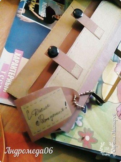 Вот такой конверт я мастерила на день рождения своему кресному фото 3