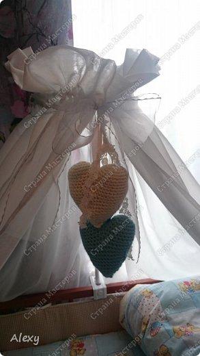 Сердечки на детскую кроватку. фото 2