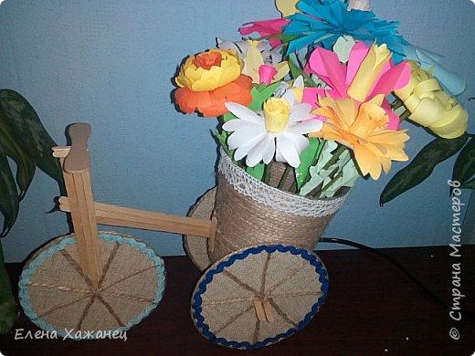 Цветочный велосипедик фото 1
