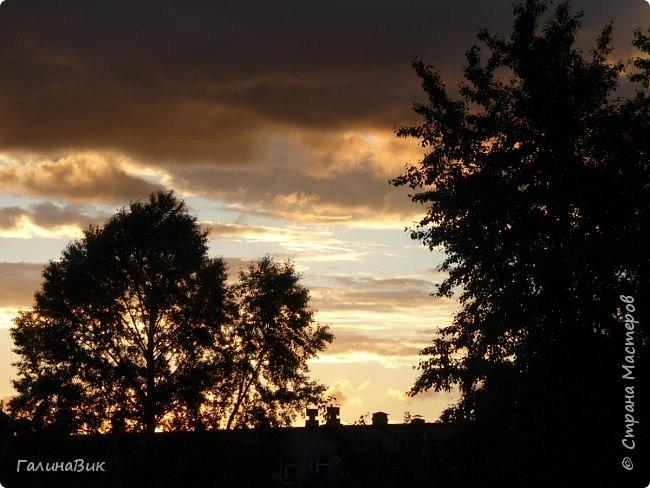 Всем добрый день!!! Хочу показать несколько фото башкирского неба. Фото делала из окна вечером. Закат - красавец!!! Сколько оттенков шоколада! фото 1