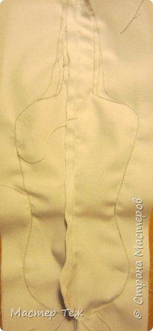 Сегодня я покажу вам как создаю болванок для своих текстильных кукол. Процесс создания тела очень долгий и трудоемкий, поэтому болванками таких кукол тоже сложно назвать.   У меня по моей схеме вышел вот такой парень. рост 45 см.  Запаситесь терпением, работа трудоёмкая!!!  фото 11