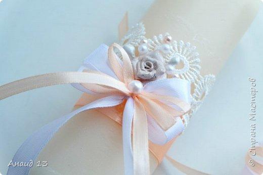 """Свадебный набор. Цвет """"розовая пудра"""" и персик. фото 6"""