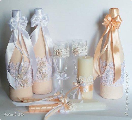 """Свадебный набор. Цвет """"розовая пудра"""" и персик. фото 1"""