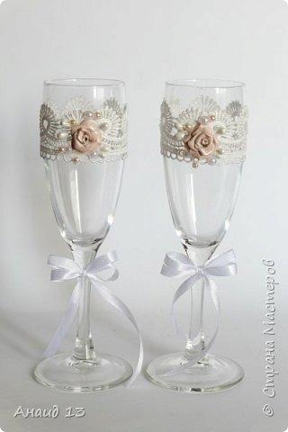 """Свадебный набор. Цвет """"розовая пудра"""" и персик. фото 2"""