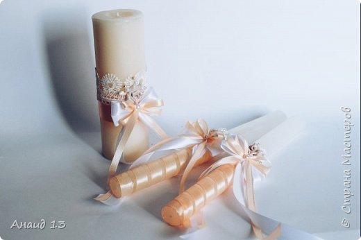 """Свадебный набор. Цвет """"розовая пудра"""" и персик. фото 4"""