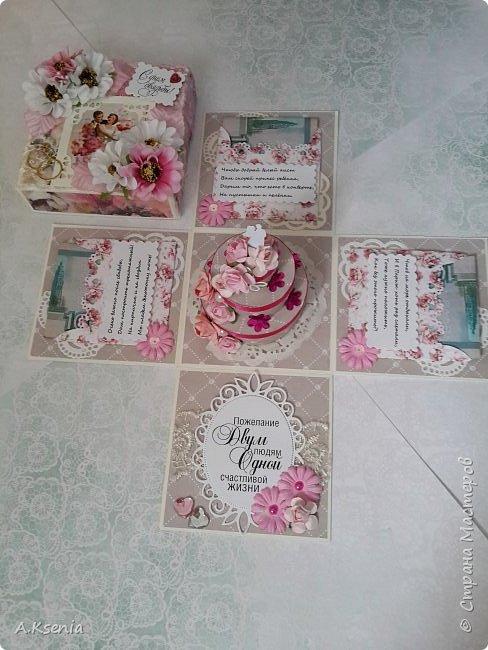 Всем привет! Сегодня хочу поделиться с Вами коробочками, которые у меня получились на заказ ко дню свадьбы и на день рождения. Одна из коробочек выполнена в красно-серой цветовой гамме и имеет размер 14х14 см. Вот и она... фото 8