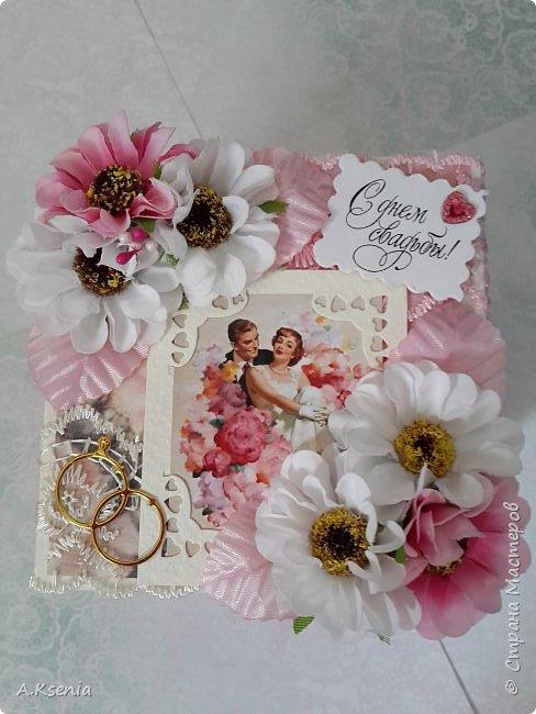 Всем привет! Сегодня хочу поделиться с Вами коробочками, которые у меня получились на заказ ко дню свадьбы и на день рождения. Одна из коробочек выполнена в красно-серой цветовой гамме и имеет размер 14х14 см. Вот и она... фото 11