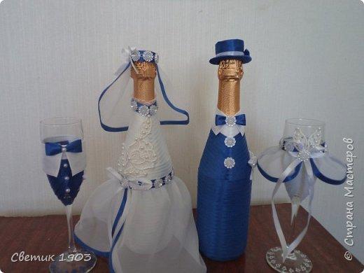 Весна-начало свадеб, начало прекрасной поры, начало приятной работы у меня.  Приглашаю  посмотреть   работу  в свадебной тематике- бело-синий свадебный набор. фото 2