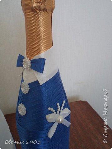 Весна-начало свадеб, начало прекрасной поры, начало приятной работы у меня.  Приглашаю  посмотреть   работу  в свадебной тематике- бело-синий свадебный набор. фото 4