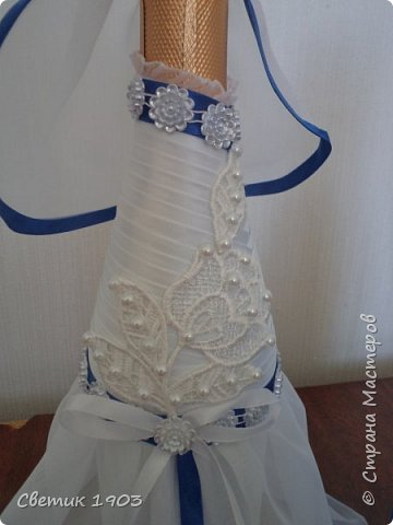 Весна-начало свадеб, начало прекрасной поры, начало приятной работы у меня.  Приглашаю  посмотреть   работу  в свадебной тематике- бело-синий свадебный набор. фото 5