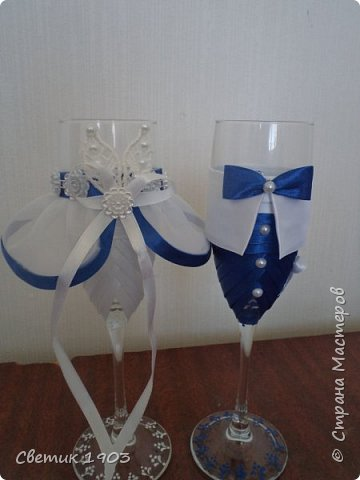 Весна-начало свадеб, начало прекрасной поры, начало приятной работы у меня.  Приглашаю  посмотреть   работу  в свадебной тематике- бело-синий свадебный набор. фото 6