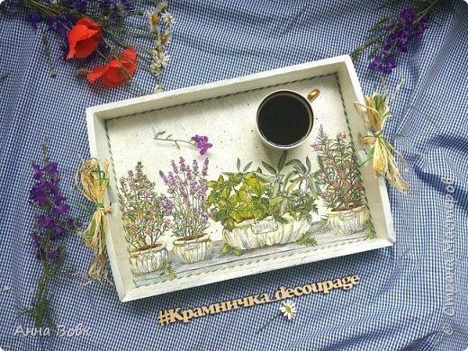 """поднос """"Прованские травы"""" фото 1"""