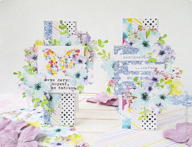 Добрый вечер! Хочу показать вам свои крохотные открытки - скраплинги, с которыми нас познакомили девочки - дизайнеры блога ScrapMagia. Эти крохи размером всего 3,8*11,4 см - узенькая полосочка, но какая же прелесть получается в итоге!!! Я восхищена этими малышами! ))) Первая серия в стиле шебби-шик: фото 8