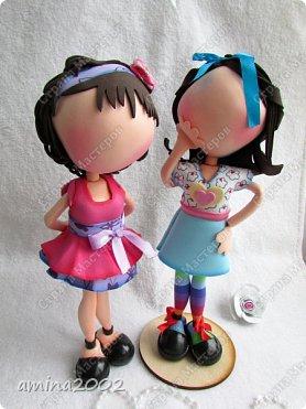 """Добрый день!Штампы кукол из серии """"Прима Долл"""" используются мастерами скрапбукинга, для создания невероятно красивых открыток.Куклы из фоамирана созданы по мотивам этих штампов.Высота кукол примерно 26-27см. фото 3"""