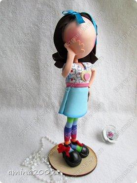 """Добрый день!Штампы кукол из серии """"Прима Долл"""" используются мастерами скрапбукинга, для создания невероятно красивых открыток.Куклы из фоамирана созданы по мотивам этих штампов.Высота кукол примерно 26-27см. фото 7"""