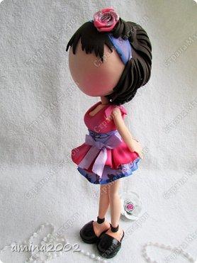 """Добрый день!Штампы кукол из серии """"Прима Долл"""" используются мастерами скрапбукинга, для создания невероятно красивых открыток.Куклы из фоамирана созданы по мотивам этих штампов.Высота кукол примерно 26-27см. фото 6"""