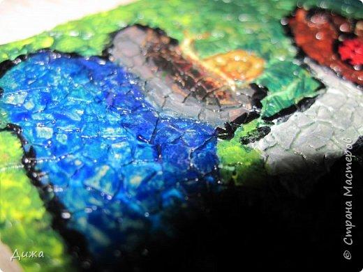 """Всем огромный приветик!  Представляю вам АТС карточки """"ГРИБЫ"""" Техника аппликация. Вначале нарисовала рисунок, а потом клеила яичную скорлупу. Раскрасила гуашью и акриловыми красками. Мама покрасила лаком.  А ещё я должна АТС карточку мастерице p_olya71 (Ольга) за АТС серию """"Дарю хорошее настроение!"""" фото 10"""