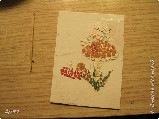 """Всем огромный приветик!  Представляю вам АТС карточки """"ГРИБЫ"""" Техника аппликация. Вначале нарисовала рисунок, а потом клеила яичную скорлупу. Раскрасила гуашью и акриловыми красками. Мама покрасила лаком.  А ещё я должна АТС карточку мастерице p_olya71 (Ольга) за АТС серию """"Дарю хорошее настроение!"""" фото 15"""