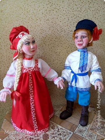 Иван да Марья .Куклы в русских народных одеждах. фото 1