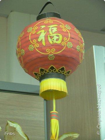 Китайский фонарик из бумаги.