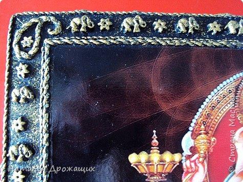 Старенькую шкатулку решила реставрировать, посвятила её индийскому божеству Ганеша. фото 6