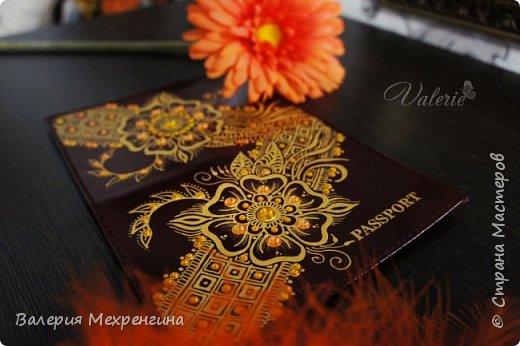 Роспись акрилом. Паспорт и кошелек фото 4