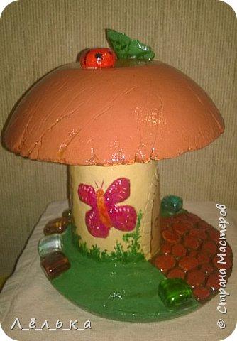 Всем привет! Вот как то нашла на просторах страны мастеров чудо-гриб http://stranamasterov.ru/node/509489?c=favorite. Решила что как-нибудь попробую. И вот... фото 7