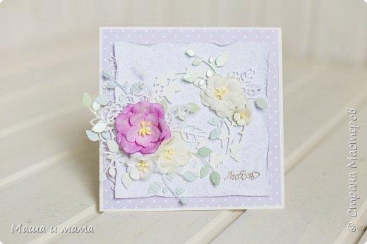 Здравствуйте!!! Лето, свадьбы, а у меня конвертики для дисков))) Вообщем, я в своём репертуаре! Один скетч - две открытки лиловая и персиковая. Какая Вам нравится больше? фото 2