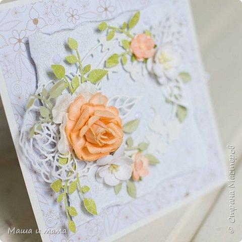 Здравствуйте!!! Лето, свадьбы, а у меня конвертики для дисков))) Вообщем, я в своём репертуаре! Один скетч - две открытки лиловая и персиковая. Какая Вам нравится больше? фото 6