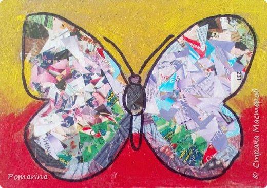 Очень понравился мастер-класс Тани Сорокиной http://stranamasterov.ru/node/314487  Захотелось с детьми попробовать. Резали каталоги с косметической продукцией (благо их полным-полно), фон закрашивали, а контур наводили маркером. Работы пока без рамочек, но дети результатом довольны. Возраст детей - 6-8 лет. фото 3