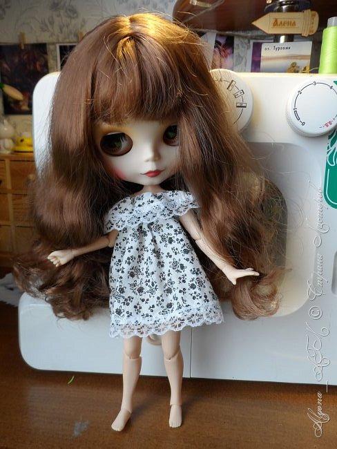 Приветствую всех жителей Страны Мастеров! Недавно ко мне в голову пришла идея сделать для блайзки образ эльфа. Долго думала, какое же платьице будет смотреться лучше и в итоге остановилась на вот таком. Сегодня я расскажу, как сделать такое платье для любой куклы, подойдет не только блайз. фото 23