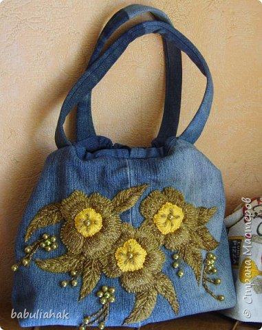 Бразильская вышивка на сумке. фото 1