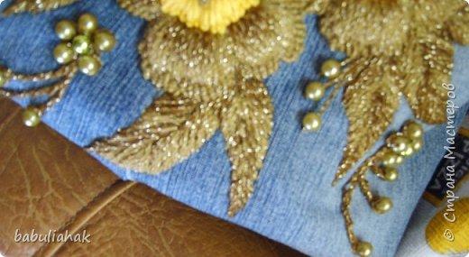 Бразильская вышивка на сумке. фото 2