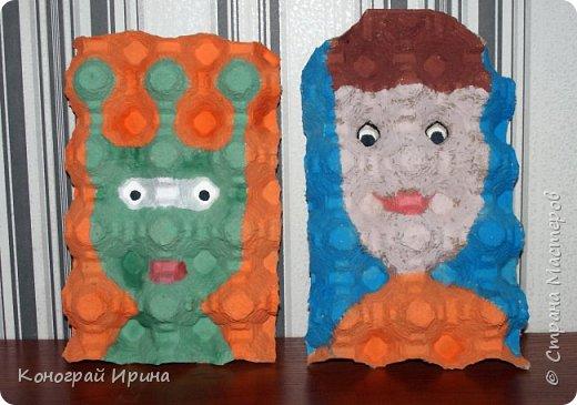 В продолжении темы использования картонных яичных лотков :-)  Забавные 3D-портреты. фото 1