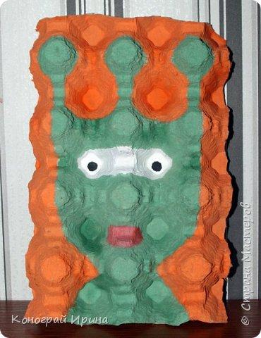 В продолжении темы использования картонных яичных лотков :-)  Забавные 3D-портреты. фото 3