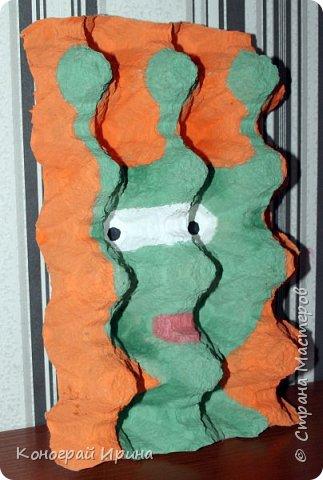 В продолжении темы использования картонных яичных лотков :-)  Забавные 3D-портреты. фото 4